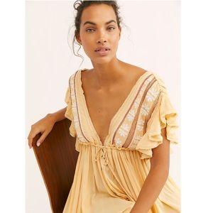 Free People Bali Can Wait Embroidery Midi Dress